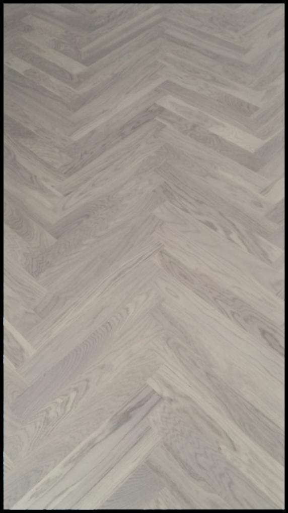 2-Schichtparkett Eiche weiß matt versiegelt